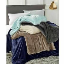 Berkshire Blanket Alder Luxe Reversible Plush Full/Queen Tan - $55.39