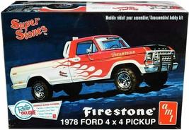 AMT Super Stones Firestone 1978 Ford 4x4 Pickup 1:25 Scale Model Kit New... - $32.88