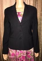 AMANDA SMITH  STRETCH Size 10 Casual Career Evening Blazer Jacket Black - $22.27