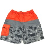 ORAGEOUS Mens Sz XXL Swim Trunk Orange Board Shorts Mesh Under Liner Poc... - $17.97