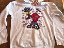 Freeze Sylvester Tweety Looney Tunes 2XL USA Hoodie Hip Hop 4th July 1995 NWT - $33.25