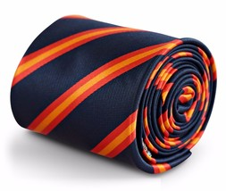 Frederick Thomas navy red and orange striped tie FT3249 Spain World Cup Football