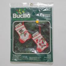 Bucilla Christmas Heirloom Kit Sweet Socks 60639 Money Holder Ornaments - $19.79