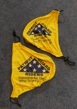Patriot Guard Riders Polyester Mirror Covers Sedan Yellow w Blue Logo Se... - $32.50