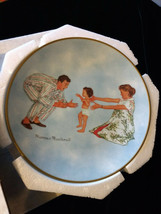 1978 Norman Rockwell Baby's First Step Gold Trim Plate American Family S... - $9.00