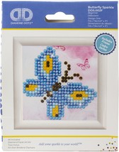 Diamond Dotz Diamond Embroidery Facet Art Kit W/ Frame-Butterfly Sparkle - $10.82