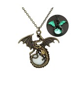 Creative Vintage Luminous Flying Dragon Glowing Pendant Necklace Fashion... - $10.12