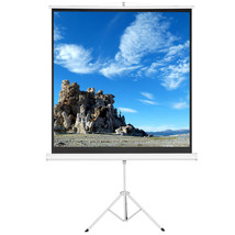 "100"" 1:1 Tripod Projector Multi Aspect Ratio Pull Up Office Projection s... - $49.99"