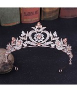 Fashion Tiaras Wedding Hair Accessories Rhinestons Crowns Crystal Large ... - $15.37
