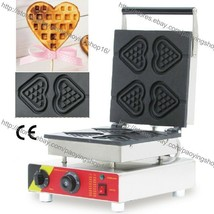 Commercial Nonstick Electric Hearts Waffle on a Stick Maker Iron Baker M... - $256.41