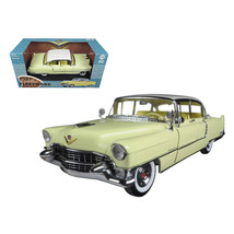 1955 Cadillac Fleetwood Series 60 Yellow with White Roof 1/18 Diecast Mo... - $78.97