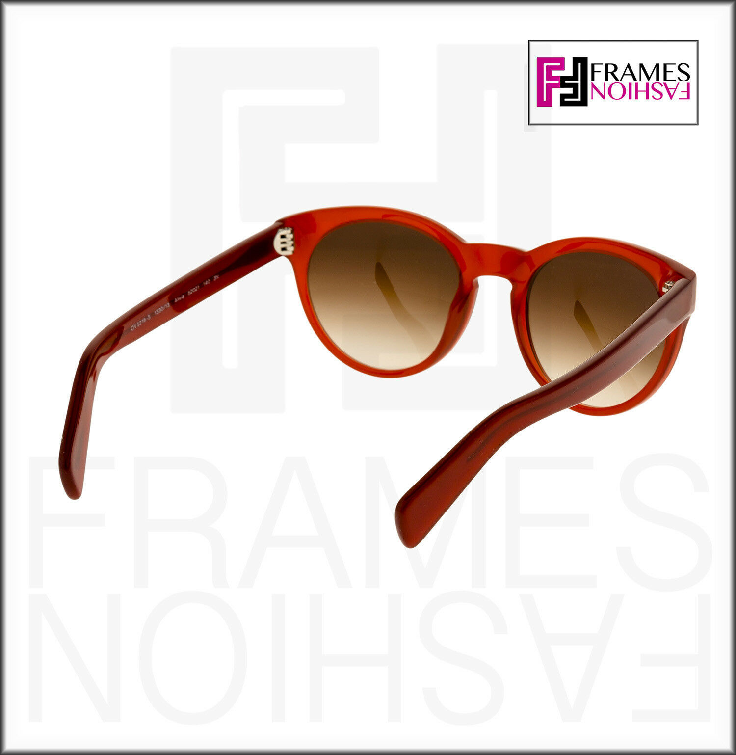 OLIVER PEOPLES ALIVIA OV5216S Red Blood Translucent Brown Round Sunglasses 5216 image 4