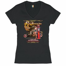 Get Your Rod Services Here Women's V-Neck T-shirt Route 66 Hot Rod Pin-u... - $12.56+