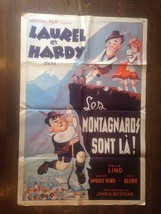 *SWISS MISS (1938) Laurel and Hardy Original Release Stone Lithograph Po... - $239.20