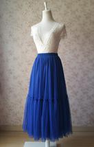 ROYAL BLUE High Waist Tulle Skirt Bridal Bridesmaid Skirt Layer Full Tulle Skirt image 2