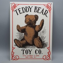 Teddy Bear Toy Co. Otto Schmidt & Sons Tin Sign New York N.Y - $13.85