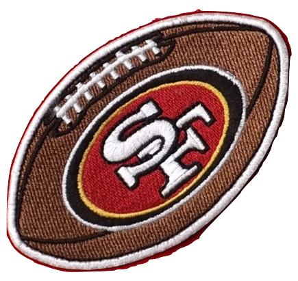 San Francisco 49ers Football Embroidered Patch - Shipped from USA