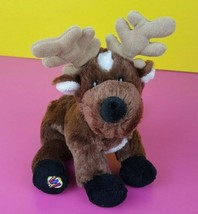 "Ganz Reindeer Plush Webkinz HM137 No Code 10"" Stuffed Animal Brown White - $5.93"