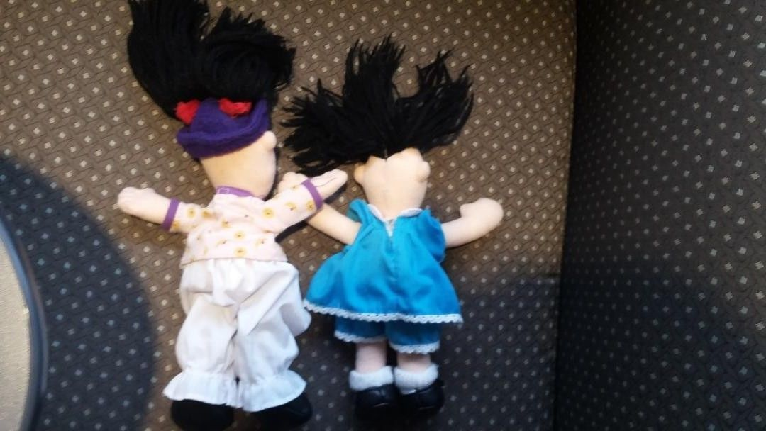 Vintage The Big Comfy Couch Molly Loonette Clown Rag Mini Plush Toy Doll Set Lot image 3