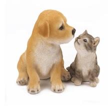 Best Buds Puppy & Kitten Figurine Statue for outdoor lawn and garden - $20.18