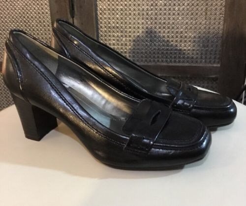 6002d22699 Bandolino Black Leather Slip On Pumps and 50 similar items. 12