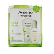 Aveeno Favorites Set Positively Radiant Daily Scrub 5oz & Daily Moisturi... - $19.95