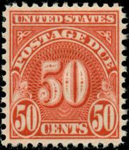 1931 50c Postage Due, Scarlet Scott J86 Mint F/VF NH - $15.00