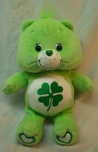 "Care Bears 2004 NICE GREEN GOOD LUCK BEAR 10"" Plush STUFFED ANIMAL Toy - $16.34"