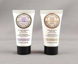 Perlier Shea Butter Lavender & Sweet Almond Milk Hand Cream 1 fl oz Trav... - $9.89