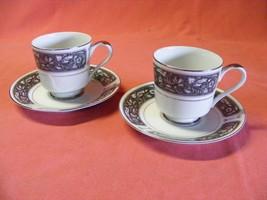 Empress China Patrician 2 Cup & Saucer Sets Pattern # 171 - $14.40