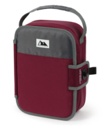 Arctic Zone Zipperless Lunch Box lunchbox cooler built in tray Maroon Re... - $14.07