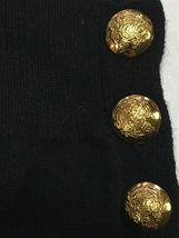 NEW Ralph Lauren Women's Lissie Black Soft Cold-shoulder Cashmere Knit Sweater image 3