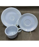 Fiesta Periwinkle Cup, Saucer, And Bread Plate - $15.00