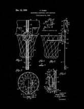 Basketball Hoop Patent Print - Black Matte - $7.95+