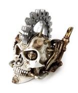 Steamhead Skull Punk Spikes Steampunk Gear Resin Statue Decor V73 Alchem... - $59.95