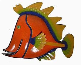 Beautiful Unique Orange Fish Metal Hanging Wall Art - $34.59