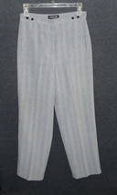 Womens Size 14 Dress Pants LARRY LEVINE Black White Plaid Adjustable Waist - $18.80