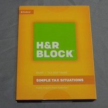 New H&R BLOCK Simple Tax Situations Basic Tax Software 2016 Win & Mac Fe... - $3.76