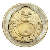 12oz Fine Silver Collecable Round Buddha/ Lotus Flower Design Two Tone F... - $321.75