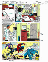 Original Marvel 11x8 1/2 color guide art:Amazing Spiderman Uncanny X-Men... - $99.50