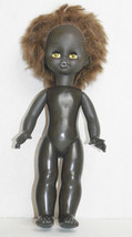 Vintage Russian Plastic African American Black Doll Girl Toy Angel - $19.79