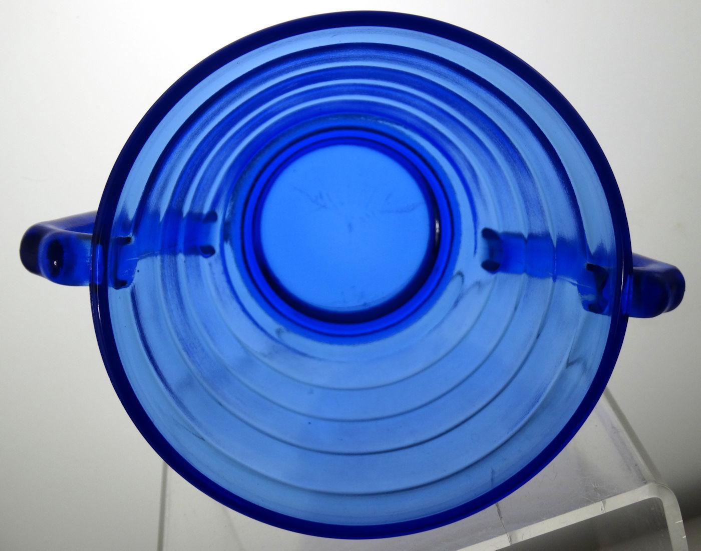 """7 avail. ONE Moderntone 8"""" Lunch Plate Cobalt Blue Hazel Atlas 1934-1942"""