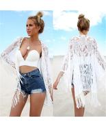 2016 White Sexy Women Lace Crochet Tassel Bikini Swimwear Cover Up Woman... - $51.84+