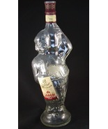 Winemaker Clear Glass Figural Bottle Made in Moldova Garling Collection - $15.00