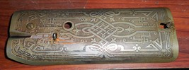Singer 101 Face Plate #66527 w/Egyptian Scroll Etchings & 2 Mounting Screws - $15.00