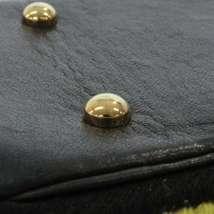 CHANEL Icon Chain Shoulder Bag Leather Knit Black Multi Color CC Logo Authentic image 8