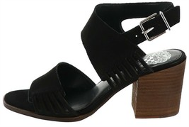 Vince Camuto Leather Heeled Sandals-Karmelo Black 7M NEW A353439 - $39.58