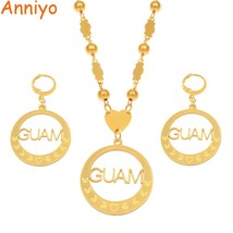 Anniyo Guam Pendant Ball Beads Necklaces Earrings Jewelry sets for Women... - $30.90