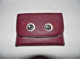 COACH- Leather Flap Card Case/Pouch- 'Glitter Flirty'- Burgundy, BNWT- F... - $17.80