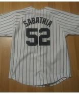 New York Yankees CC Sabathia 52 Home Jersey Majestic Size Youth 10/12 - $21.77